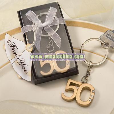 50th Anniversary Keyring Favors