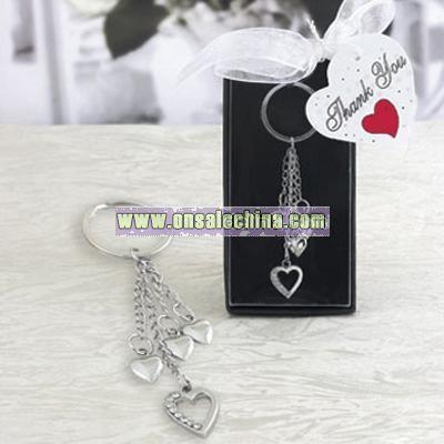 Heart Key Chain Favor