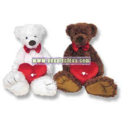 Custom plush Valentine's day teddy bear with heart