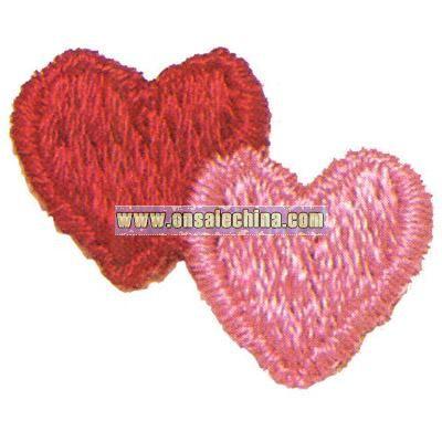 Double Hearts Alternating -Valentine theme washable