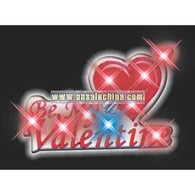 Blank Be My Valentine flashing pin