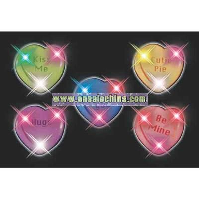 Blank assorted candy heart flashing pin