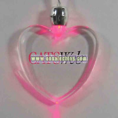 Purple - Light up heart shape pendant necklace