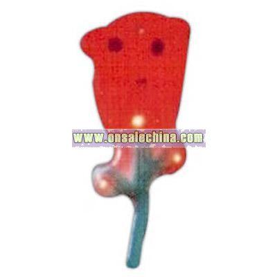 Custom rose shape flash lapel pin