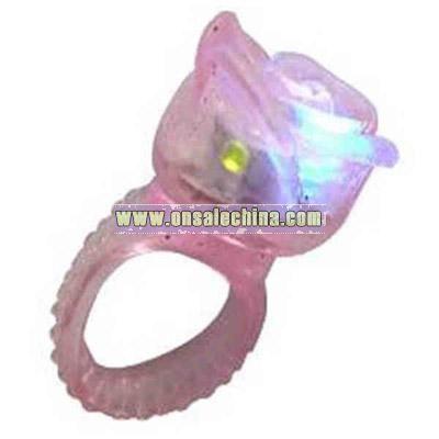 Rose flashing ring