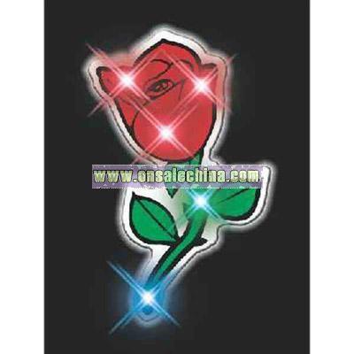 Blank red rose flashing pin