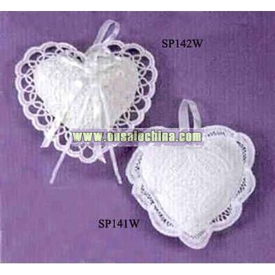 Heart shape cotton sachet pillow