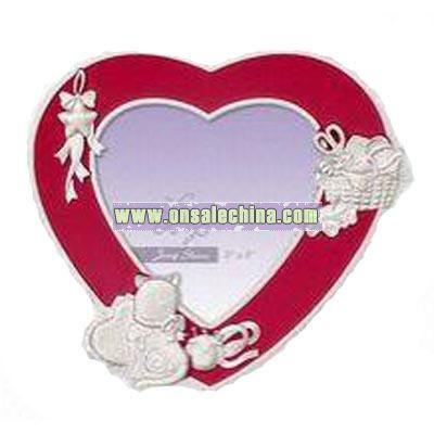 Heart-shaped Cat Image Photo Frame