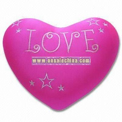 Heart-shaped Massage Cushion/Micro-bean Pillow with Vibrator
