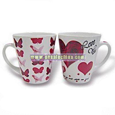 Porcelain Mug with Heart Decal