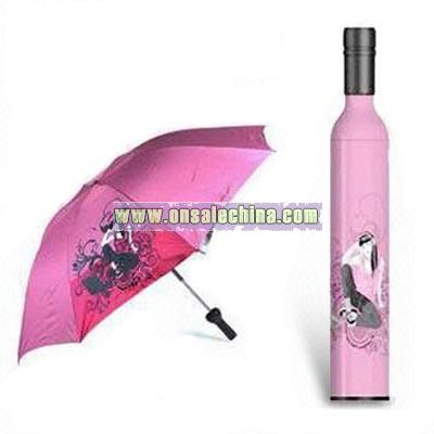 Wine Bottle-shaped Umbrella
