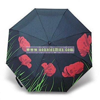 3-section Rose Umbrella