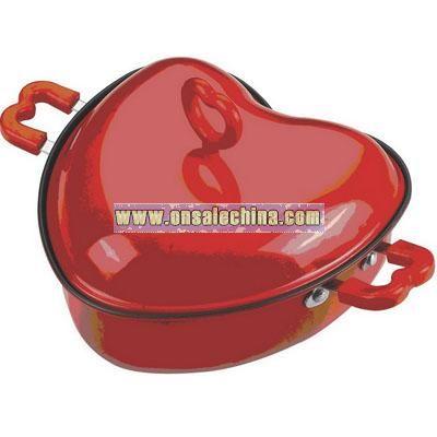 Heart cooking pan