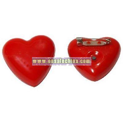 Heart-Shaped Flashing Badge