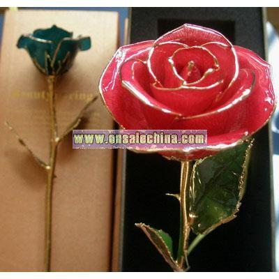24k Gold Real Roses