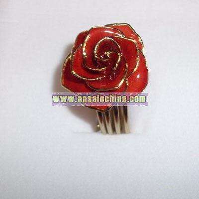 24k Gold Roses Ring