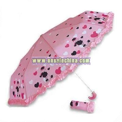 Three-section Folding Umbrella