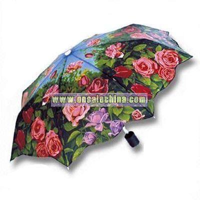 Rose-printed Umbrella