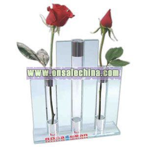 Triple glass bud vase