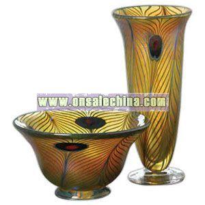 Peacock Robert Held Art Nouveau - Crystal vase