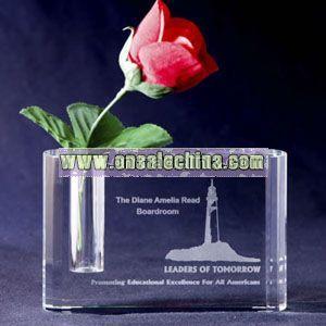 Small - Optical crystal bud vase