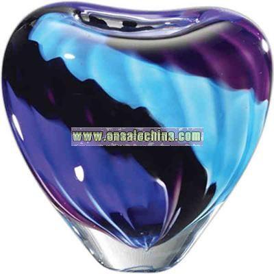 Artful award vase