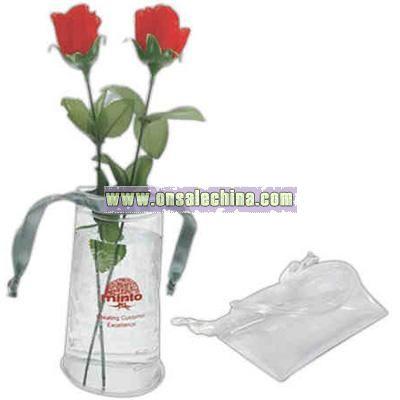 Small transparent PVC foldable vase