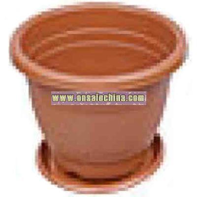Plastic potting vase