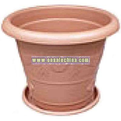 Straight plastic potting vase