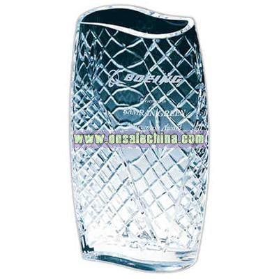 Twenty four percent lead crystal vase award