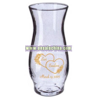 Cocktail 16 oz. clear bud vase style hurricane glass