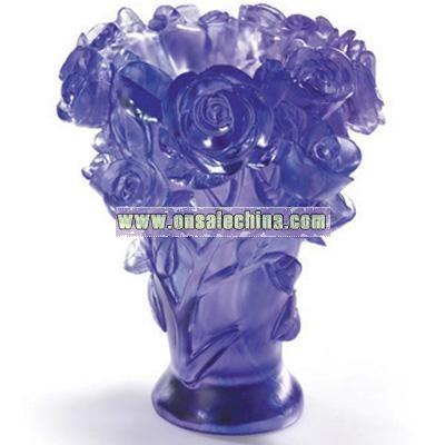 Crystal Glass Liuli Vase -Rose Vase