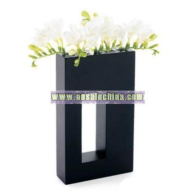 Wooden Frame Flower Vase