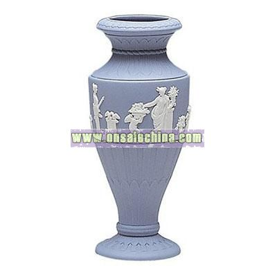 Wedgwood Blue Jasper Fluted Vase