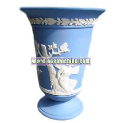 Wedgewood Blue Jasper Vase