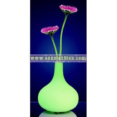 Vase LED Tischleuchte Opal 230V Glas