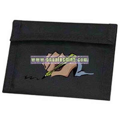 nylon with PU coating bi-fold wallet
