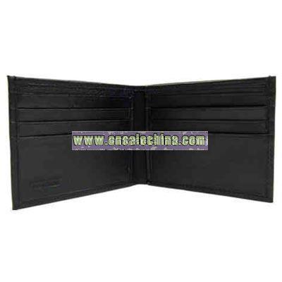 Men's slim black wallet