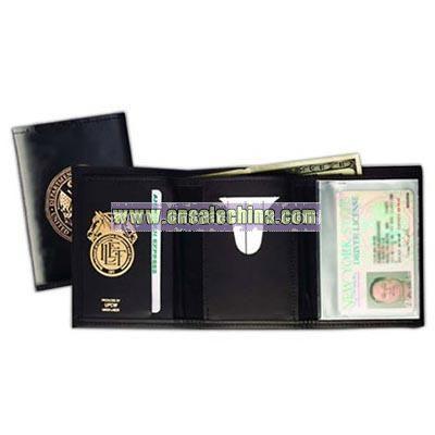 Men's regency cowhide leather tri - fold wallet