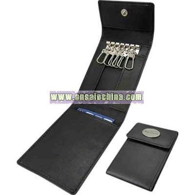 Genuine top grain leather key holder