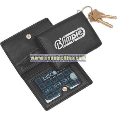 Nappa leatherette ID card case wallet