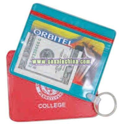 Waterproof wallet with key ring
