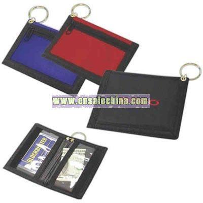 Nylon keyring wallet