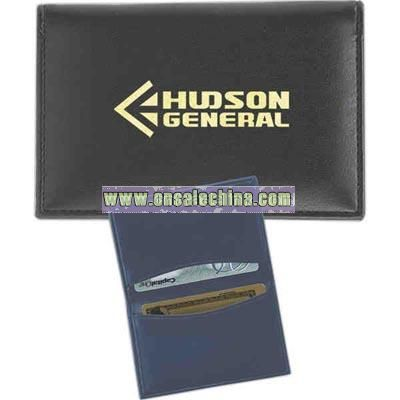 Debossing - Soft touch Rio hide simulated leather business card wallet