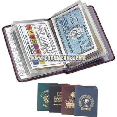 Card case holds twelve credit cards in a slim-line wallet