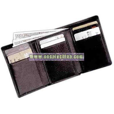Leather tri-fold wallet