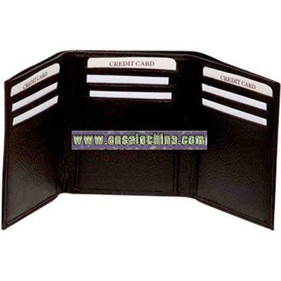 Tri-fold leather wallet
