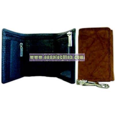 Tri fold wallet with chain