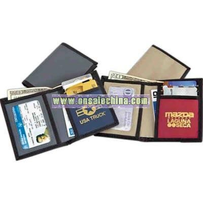 A sporty three credit card pocket wallet