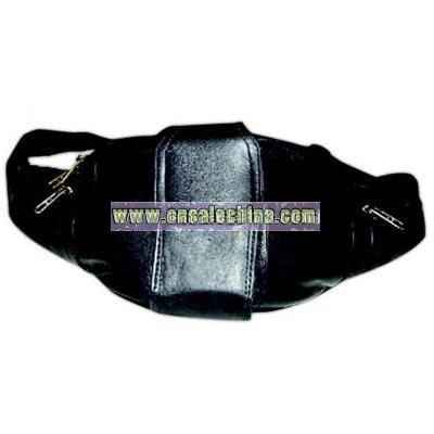Waist wallet with front cell phone pouch